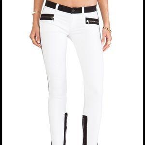 Hudson Chelsea Skinny Colorblock Jeans Retreat
